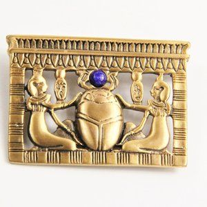 MUSEUM REPRODUCTIONS EGYPTIAN SCARAB BROOCH NOS